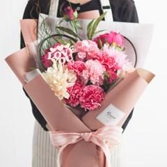 러브 카네이션 꽃다발 60cm P 조화 어버이날 스승의날 선물 감사