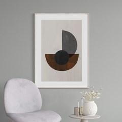 서클블랙 추상화 그림 인테리어 액자 포스터