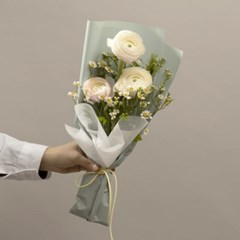 꽃선물 하노이 라넌큘러스 꽃다발 S (생화, 전국택배)