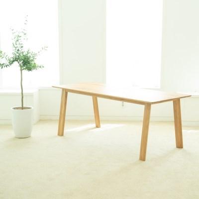 [오크]오크원목 블루보틀 다이닝 테이블 A다리 2600 10인테이블