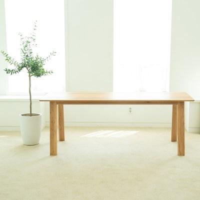 [오크]오크원목 블루보틀 다이닝 테이블 A다리 2400 10인테이블