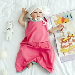 아기수면조끼 투톤핑크 아기 조끼 신생아 수면조끼