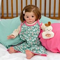 아기수면조끼 하트 아기 조끼 신생아 수면조끼