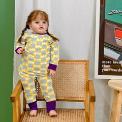 아기우주복 튤립 아기 우주복 신생아 지퍼우주복