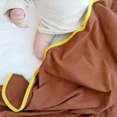 신생아속싸개 투톤브라운 아기 속싸개 신생아 이불 담요 목욕가운
