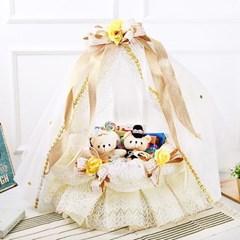 화이트데이♥ 스페셜 웨딩 초콜릿 과자 바구니 (골드)