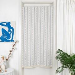 플럼 자수면 가림막커튼 블루 83x151.5