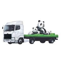토미카 03 동물 운반차-팬더