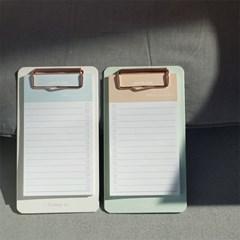 Today is 메모지 클립보드 2종(beige,mint)