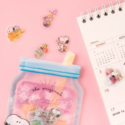 [CRUX sticker] YUM TIME SEAL FLAKE_달콤 스누피