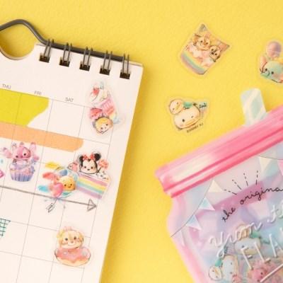 [CRUX sticker] YUM TIME SEAL FLAKE_디즈니 베이비(핑크)