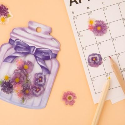 [CRUX sticker] Cherie fleur_퍼플