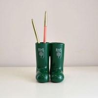 RHS 가든 장화 연필 꽂이 - 영국 왕립 원예협회 공식 마스코트