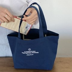 Basic mini canvas bag ( blue )