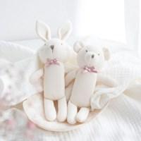 [데코봉봉]오가닉 딸랑이 2P(토끼와 곰)