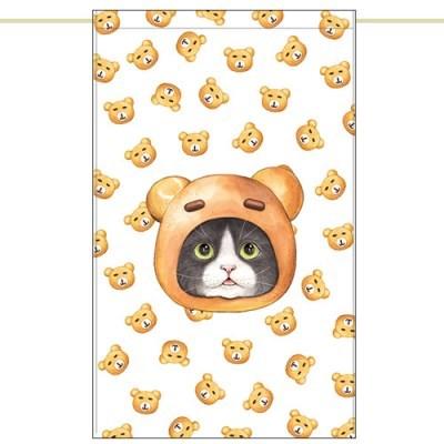 한폭노렌(입구커튼) - 곰돌이빵고양이 (51✕81cm)