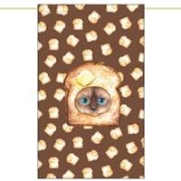 한폭노렌(입구커튼) - 탄식빵고양이 (51✕81cm)