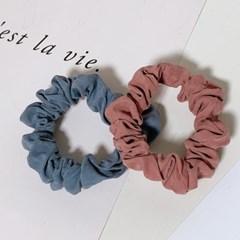[2개세트][2color] 데일리 블루핑크 미니 헤어슈슈 곱창 머리끈