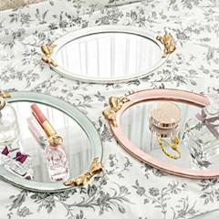 골드 리본 앤틱 쟁반 거울(3color)_(1878639)