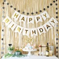 생일파티 장식세트(모던 골드)