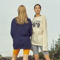 여성 요가복 DEVI-T0032-아이보리 필라테스 티셔츠 루즈핏 긴팔