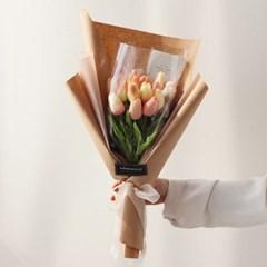 화이트데이 수제초콜릿 튤립 꽃다발[핑크]
