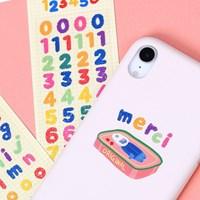 (홀로그램) 몽글몽글 알파벳&숫자 스티커
