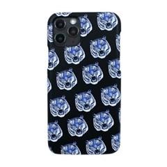 블루 타이거 패턴 프린트 핸드폰 케이스