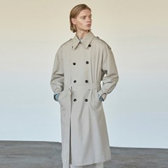 COTTON BUCKLE TRENCH COAT_BEIGE