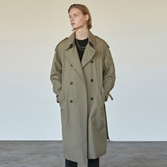 COTTON BUCKLE TRENCH COAT_KHAKI