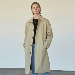 COTTON SINGLE MAC LONG COAT_BEIGE
