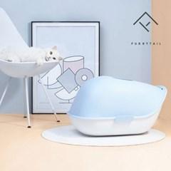 퓨리테일 사막화방지 고래형 고양이 화장실