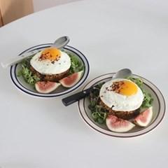 뉴욕 라인 접시 디저트접시 브런치그릇
