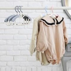 길이조절 새싹옷걸이 확장형 9+1세트 아기옷걸이