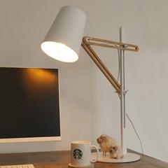 LED 라쳇 우드 스탠드 화이트_(1788778)