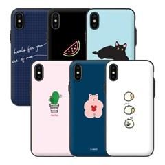 아이폰XS 아이무이 디자인 도어범퍼케이스S4