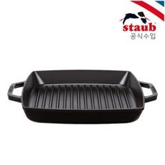 [스타우브]더블핸들 사각그릴 28cm 블랙 ST2012823