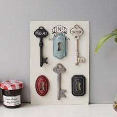 6P 열쇠 철제 자석 세트 (12AT230N4N)