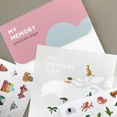 [라운드그라운드]MY MEMORY STICKERMAP 리무벌 스티커4 + 드로잉 맵
