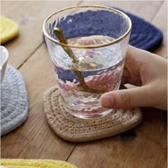 모던 짜임 냄비받침 코스터 소 1개(색상랜덤)