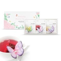 꽃을담다 꽃차 나비티백 3종세트(구절초 맨드라미 아카시아)
