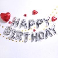 블링블링 생일파티 풍선세트(실버)
