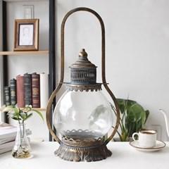 Antique 플랜 유리 촛대 (A13)