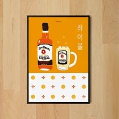 하이볼2 M 유니크 인테리어 디자인 포스터 일식당