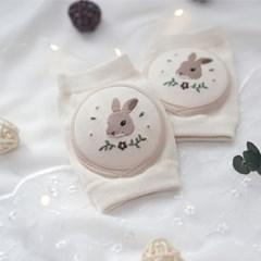 [쿵스쿵스] 숲속의토끼 오가닉 아기무릎보호대 유아 성장판보호대