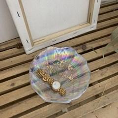 크리스탈 조개 트레이 캔들 받침 장식용 소품