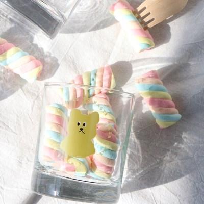 lazybear glass 300ml_yellow