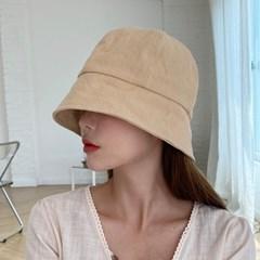 린넨 마 벙거지 여름 숏 버킷햇 모자
