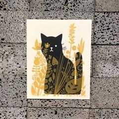 [핸드메이드 포스터] Cat Behind