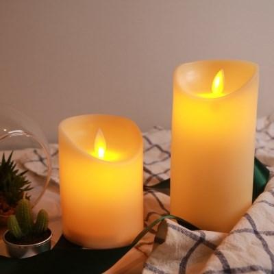 LED 촛불 초 2size [전기 전자 건전지 가짜 캔들 꺼지지않는 초]